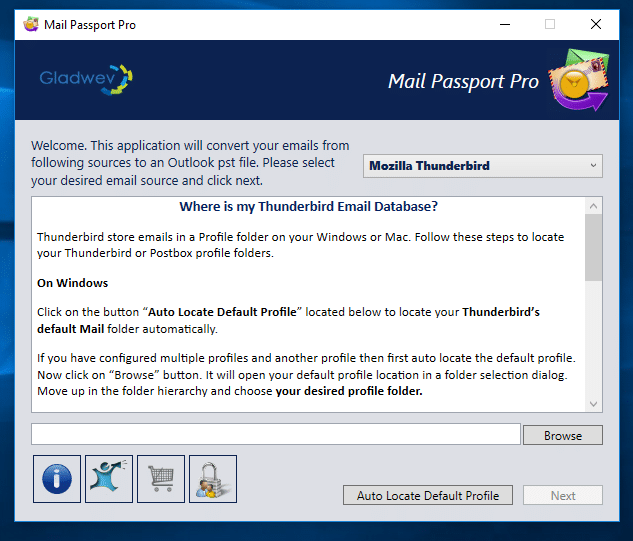 Conversion of Thunderbird to PST for Outlook